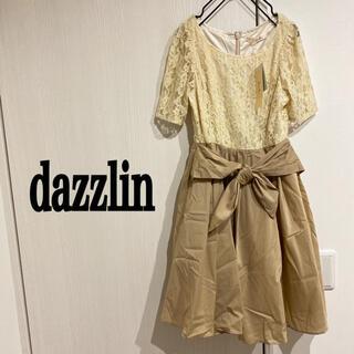 dazzlin - ダズリン 新品 ドッキングワンピース 総レース ウエストリボン 半袖ワンピース