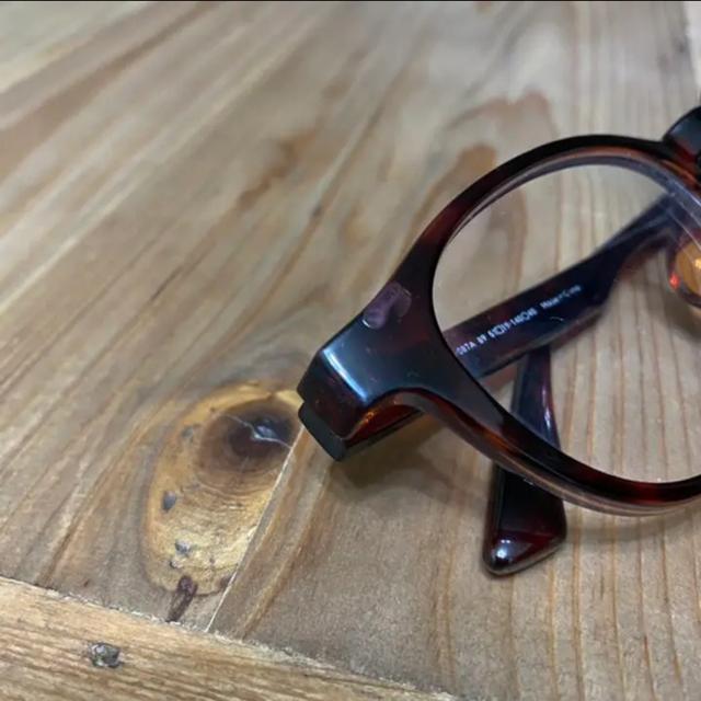 JINS(ジンズ)の美品 JINS メガネ 眼鏡 ブラウン バイカラーエアフレーム 度あり レディースのファッション小物(サングラス/メガネ)の商品写真
