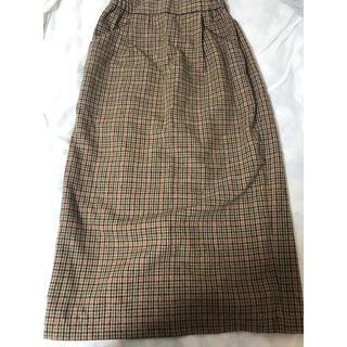 LOWRYS FARM - LOWRYSFARM ギンガムチェックロングスカート