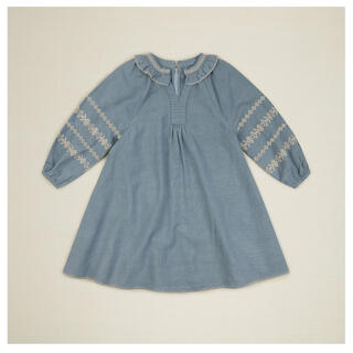 Bonpoint - apolina LUCILLE DRESS - BLUE STONE