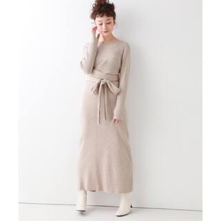 Spick and Span - フロントリボンニットドレス