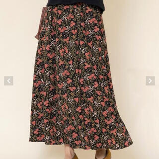 コーエン(coen)のcoen フラワー スカート  フリーサイズ(ロングスカート)