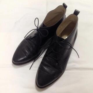 ユナイテッドアローズ(UNITED ARROWS)のユナイテッドアローズ ショートブーツ 23.5cm ブラック(ブーツ)