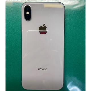 アイフォーン(iPhone)の美品 iPhoneX Silver 64Gb Simフリー残債なし(スマートフォン本体)