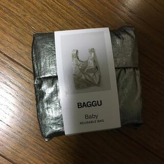 BAGGU BABY エコバック ピューター メタリック シルバー 銀 バグー