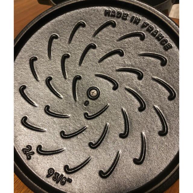 STAUB(ストウブ)のstaub ストウブ ルースター ココット  24cm バジルグリーン  インテリア/住まい/日用品のキッチン/食器(鍋/フライパン)の商品写真