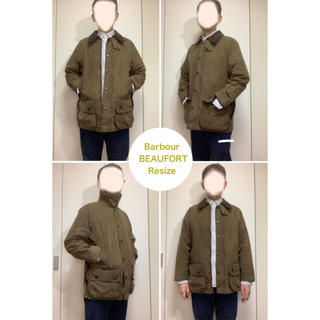 Barbour - 3Crest Barbour Beaufort Resize 筆記体バブアータグ
