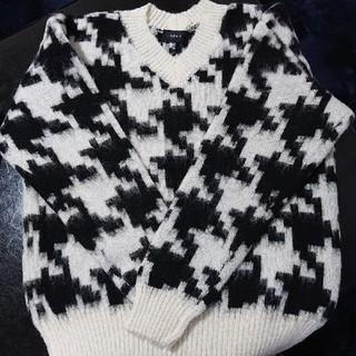 ジーヴィジーヴィ(G.V.G.V.)のGVGV ジーブイジーブイ ニット セーター 白×黒 (ニット/セーター)