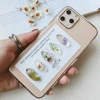 ドライフラワーiPhoneケース ハンドメイド 韓国
