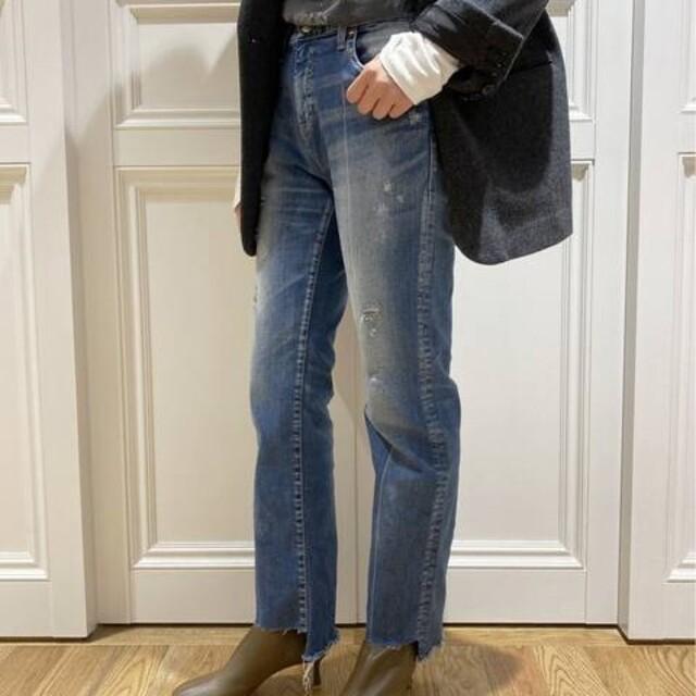 DEUXIEME CLASSE(ドゥーズィエムクラス)のサイズ36 【SURT/サート】 イレギュラーヘムデニムパンツ レディースのパンツ(デニム/ジーンズ)の商品写真
