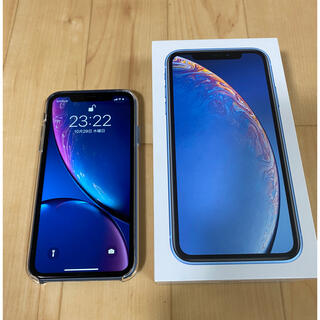 iPhone - 中古美品 Apple iPhone XR 64GB ブルー SIMロック解除済