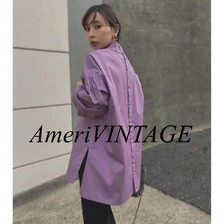 Ameri VINTAGE - 【新品タグ付き】ameri vintage PUFFER SLEEVE パープル