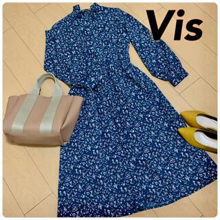 ViS - 【新品タグなし】ViS♡花柄ワンピース フリーサイズ