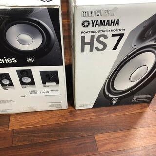 ヤマハ(ヤマハ)のヤマハ HS7 ペアほぼ新品 手渡可 DTM モニターに最適  HS5 MSP(スピーカー)