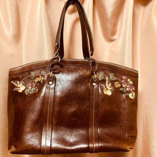 Christian Dior - クリスチャン ディオール ロゴ 蝶花刺繍 ショルダー トート ハンド バッグ