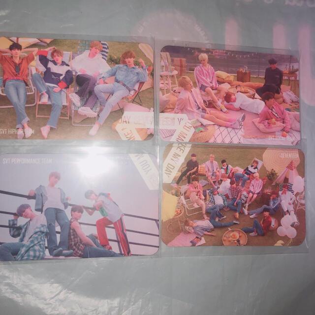 SEVENTEEN(セブンティーン)のSEVENTEEN トレカ ダルコムカフェ 4枚セット エンタメ/ホビーのCD(K-POP/アジア)の商品写真