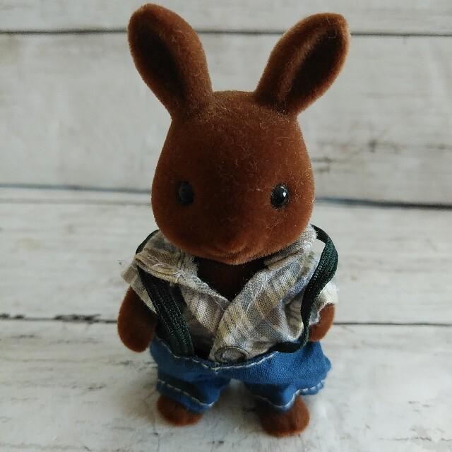 EPOCH(エポック)のシルバニアファミリー 初期 ブラウンウサギ おじいちゃん エンタメ/ホビーのおもちゃ/ぬいぐるみ(キャラクターグッズ)の商品写真