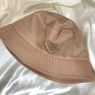 PRADA - PRADA(プラダ)】 ロゴ バケットハット   ベージュ 帽子