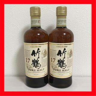 ニッカウヰスキー - 新品未開封 竹鶴17年 ピュアモルト ウイスキー 700ml 日本 2本 セット