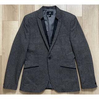 エイチアンドエム(H&M)のH&Mエイチアンドエムツイード素材タキシードジャケット175/96サイズ(テーラードジャケット)