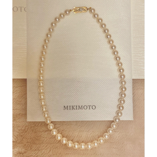 MIKIMOTO - MIKIMOTO ミキモト 天然本真珠 あこや真珠 パール ネックレス