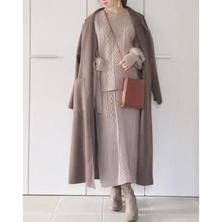 natural couture - *ナチュラルクチュール*ケーブルニット セットアップ