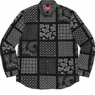 Supreme - Supreme Paisley Grid Shirt Black