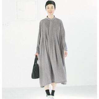 nest Robe - 【新品未使用】dgy コットントップガーゼピンタックちび襟ワンピース グレー M