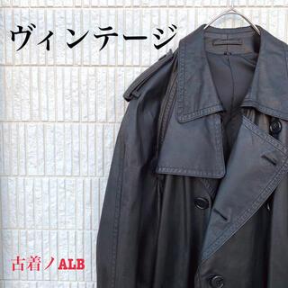 Yohji Yamamoto - 【ヴィンテージ】90s レザーコート チェスターコート 牛革 モード 古着