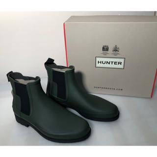 ハンター(HUNTER)の【新品未使用】【サイズ各種】BLACK Green Hunter レインブーツ(レインブーツ/長靴)