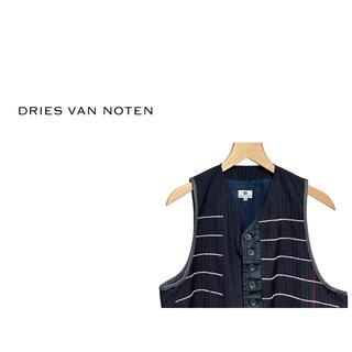 DRIES VAN NOTEN - Vintage DRIES VAN NOTEN ボーダー シーム ベスト