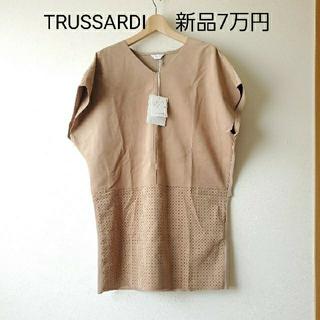 Trussardi - 新品 TRUSSARDI /トラサルディ スエード調ワンピース チュニック