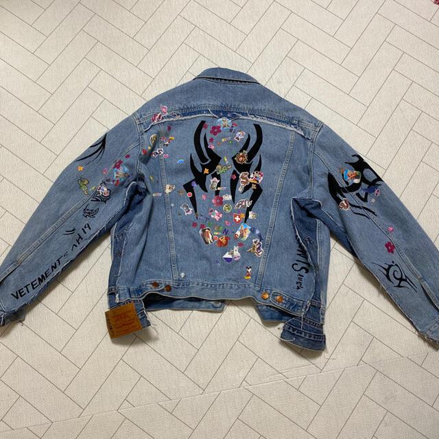Balenciaga(バレンシアガ)の登坂広臣着用 VETEMENTS♡トライバルデニムジャケット メンズのジャケット/アウター(Gジャン/デニムジャケット)の商品写真