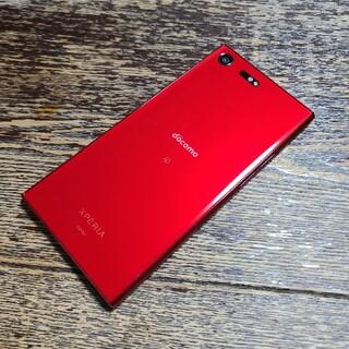 エクスペリア(Xperia)のdocomo Xperia XZ Premium SO-04J Rosso 中古(スマートフォン本体)