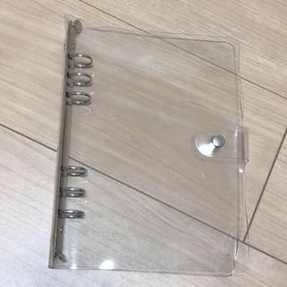 クリア 透明 スケジュール帳 6穴 バインダーA5