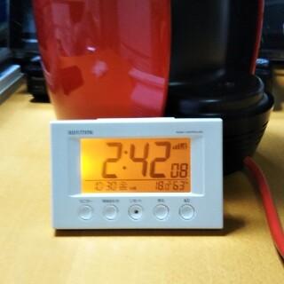 RHYTHM 目覚まし時計(電波時計)(置時計)
