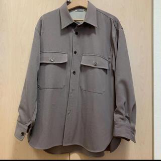 COMOLI - AURALEE 19AW wool maxgabardin shirts 3