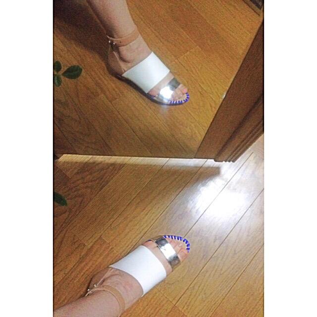 UNITED ARROWS(ユナイテッドアローズ)のロフラーランドール アンクルシューズ ブルー×ホワイト レディースの靴/シューズ(サンダル)の商品写真