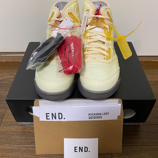 "NIKE - OFF-WHITE × NIKE AIR JORDAN5 ""SAIL"""