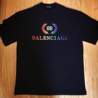 Balenciaga - BALENCIAGA レインボー ロゴ バレンシアガ Tシャツ