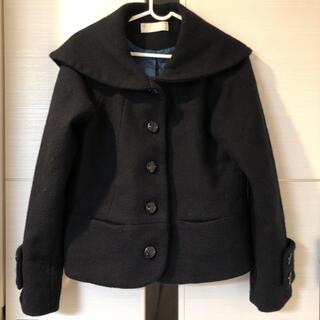 フランシュリッペ(franche lippee)のフランシュリッペ コート セーラー Pコート 黒 ブラック ウール 日本製 ネコ(ピーコート)