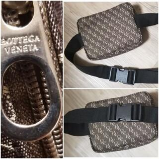 ボッテガヴェネタ(Bottega Veneta)の正規品新品未使用 ボッテガヴェネタ 総ロゴキャンパスボディバッグ 自宅保管品(ボディバッグ/ウエストポーチ)