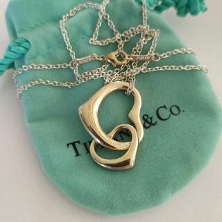 Tiffany & Co. - ティファニー (TIFFANY&Co.)ダブルオープンハートネックレスシルバー