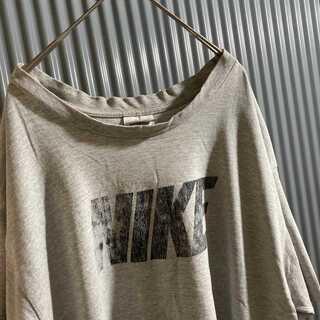 NIKE - 「マレーシア製」 90's NIKE  ビッグ スウッシュロゴ tシャツ XL