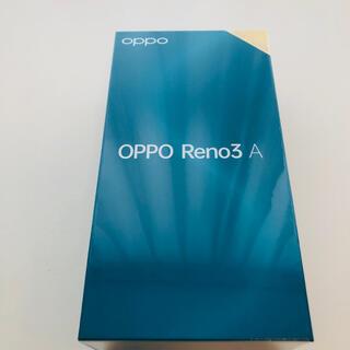 ANDROID - 新品ケース付 OPPO Reno3 A SIMフリー 128GB ブラック