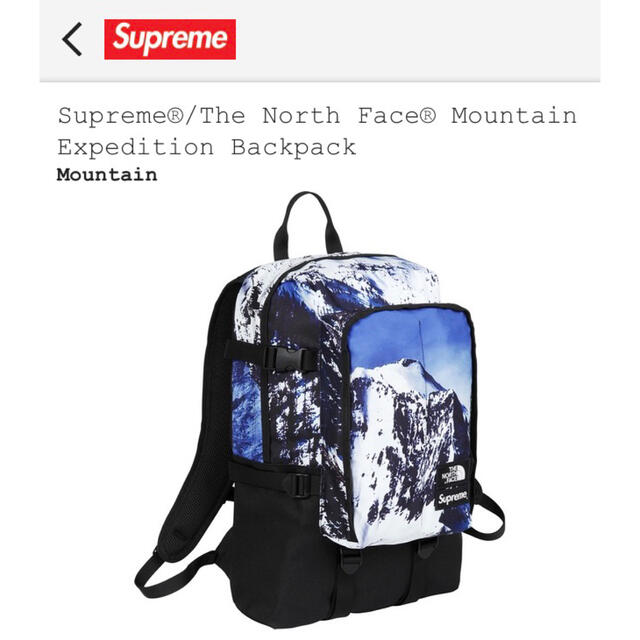 Supreme(シュプリーム)のSupreme North Face expedition Backpack メンズのバッグ(バッグパック/リュック)の商品写真