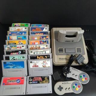 スーパーファミコン(スーパーファミコン)のスーパーファミコン本体 + スーパーゲームボーイ + カセット20本セット(家庭用ゲーム機本体)