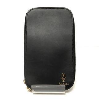 ポールスミス(Paul Smith)のポールスミス 携帯電話ケース美品  - 黒(モバイルケース/カバー)