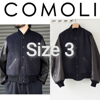 コモリ(COMOLI)の新品■20AW COMOLI アワードジャケット 3 レザー スタジャン(スタジャン)