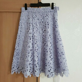 PROPORTION BODY DRESSING - リボンケミカルレースフレアースカート